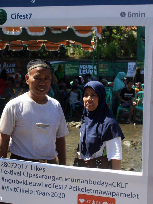 Tua Muda ikut partisipasi di Ngubek Leuwi, Festival Cipasarangan 7