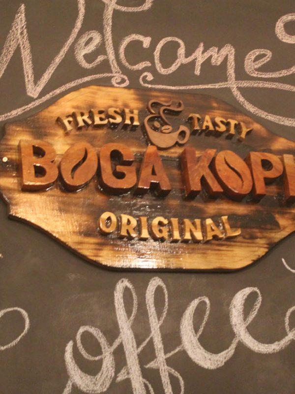 Wall Art di Boga Kopi, kedai kopi di Garut Selatan