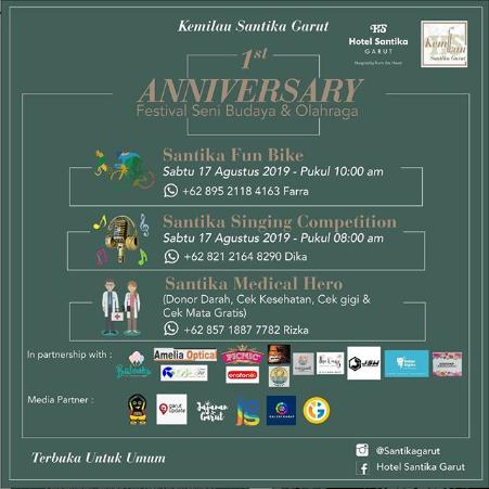 Anniversary Hotel Santika di Garut Jawa Barat